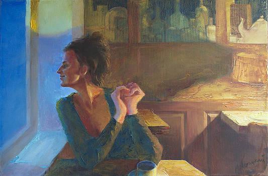 Evening in a cafe by Misha Lapitskiy