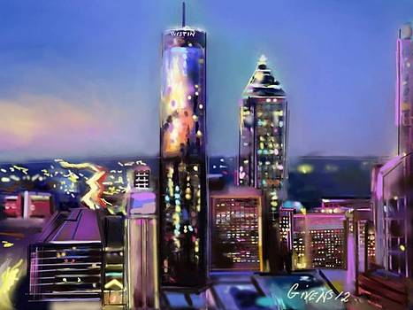 Evening in Atlanta edge side by Mark Givens
