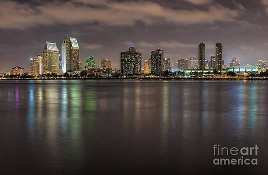 Sandra Bronstein - Evening on San Diego Harbor