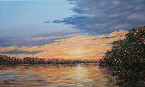 Evening on the River by Kathleen McDermott