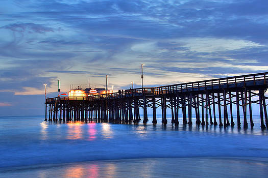 Cliff Wassmann - Evening Reflections Newport Beach Pier
