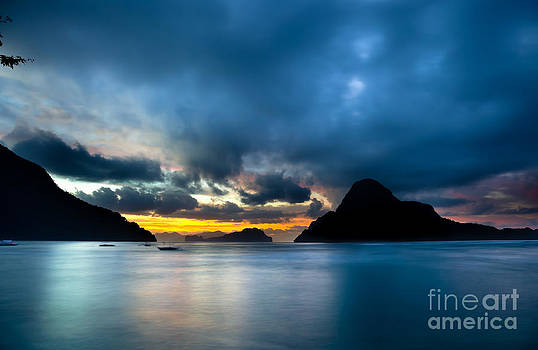 Fototrav Print - Evening seascape on El Nido Palawan Philippines