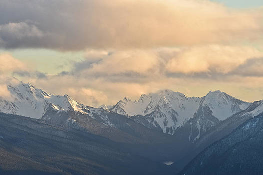Ronda Broatch - Evening Settles in over the Olympic Mountains