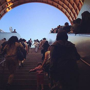 Evening Trek Up The #metro #stairs by Ann Marie Donahue