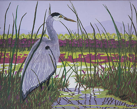 Evening Wader by BJ Hilton Hitchcock
