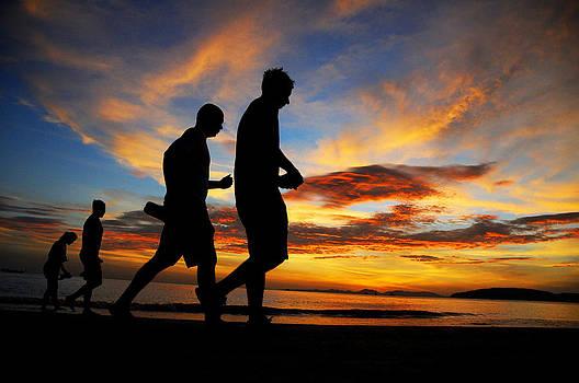 Evening walk by Money Sharma