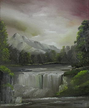 Evening waterfalls by Dawn Nickel