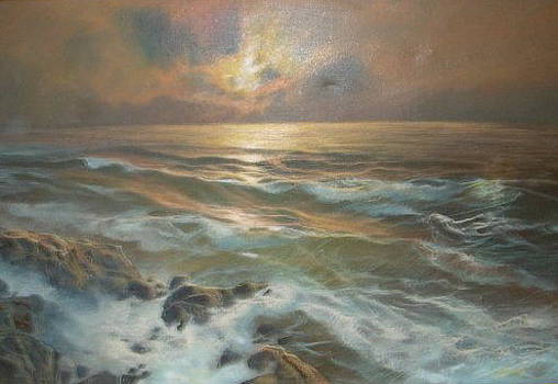 Evening Waves by Brent Vall Peterson