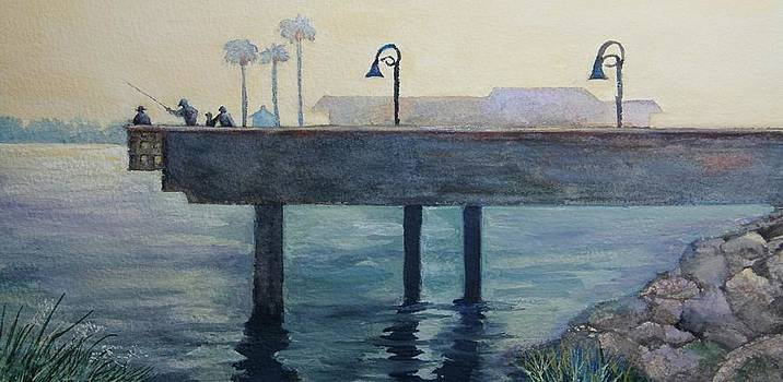 Eventide at the Oceanside Harbor Fishing Pier by Jan Cipolla
