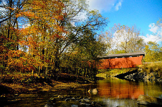 Everett Road Covered Bridge by Jeff Picoult
