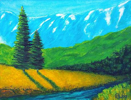 Evergreen in the Rockies 1  by Catherine Jeffrey