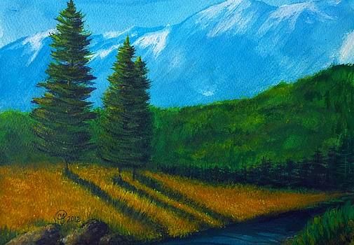 Evergreen in the Rockies 2 by Catherine Jeffrey