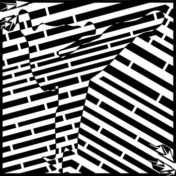 EveryBody was Kung Fu Fighting Maze  by Yonatan Frimer Maze Artist