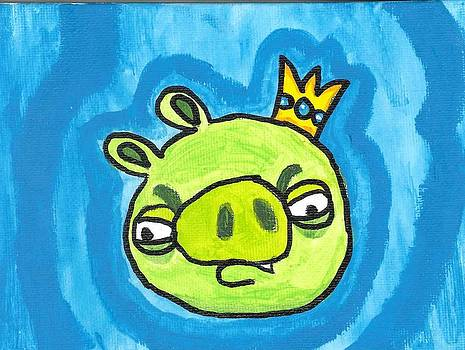 Evil King Pig Angry Bird by Fred Hanna