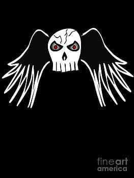Evil Winged Skull by Matt Brown