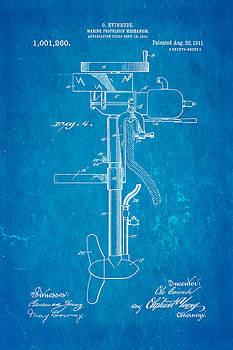 Ian Monk - Evinrude Outboard Motor Patent Art 2  1911 Blueprint