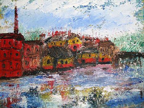 Exeter by the river by Michel      Croteau
