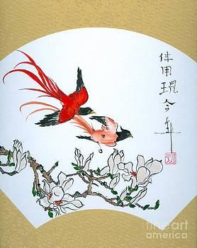 LINDA SMITH - Exotic Birds and Magnolia Branch