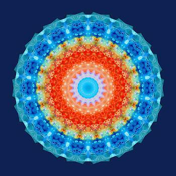 Sharon Cummings - Expanding Energy 1 - Mandala Art By Sharon Cummings