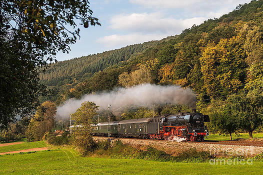 Express train with the Pacific 01 045 by Christian Spiller