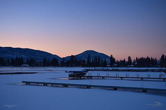 Guy Hoffman - Extended-Winter-Sunset Skaha Lake 2-25-2014