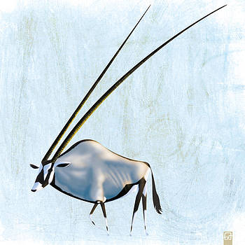 Extremely long-horned Oryx by Gorka Aranburu