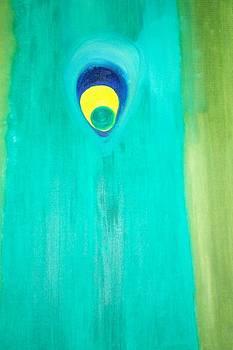 Eye of peacock Feather by Leena Samat Kuchadiya