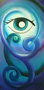 Eye Triple Koru by Reina Cottier