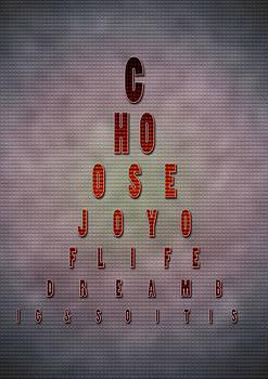 Eyechart Inspiring Typography art by Georgeta Blanaru