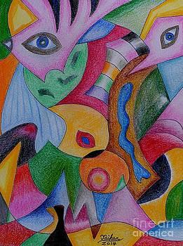 Eyes By Taikan by Taikan Nishimoto
