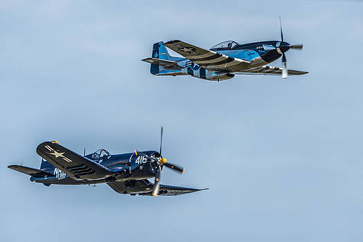 F4U and P-51 by Mike Watts