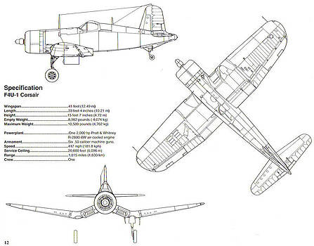 John King - F4U Corsair Schematic Diagram