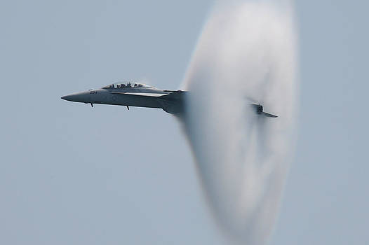 FA 18 Super Hornet Vapor Circle 2 by Donna Corless