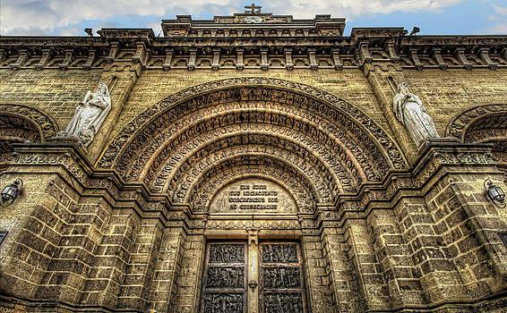 Facade of Manila Cathedral by Mario Legaspi