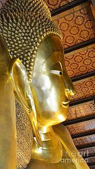 Face of golden Buddha by Bobby Mandal