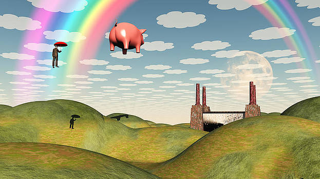 Factory and Pig by Bruce Rolff