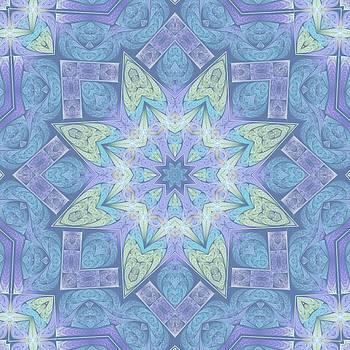 Faded Fractal Kaleidoscope by Lyle Hatch