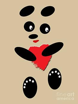 Fading Like A Flower. Panda In Love with Cafe Latte by Ausra Huntington nee Paulauskaite