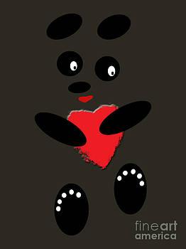 Fading Like A Flower. Panda In The Night by Ausra Huntington nee Paulauskaite