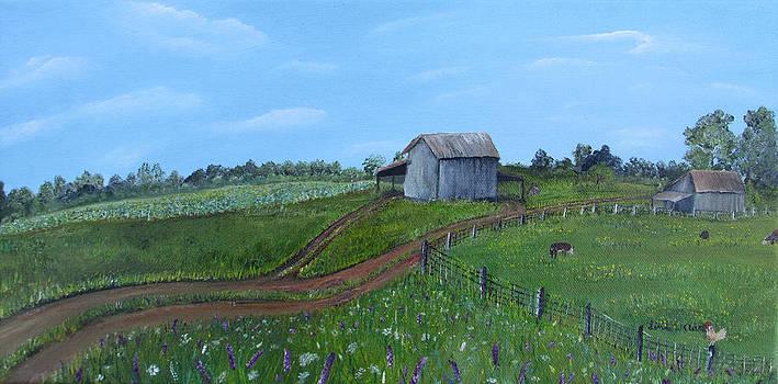 Fading Tobacco Barns by Linda Clark
