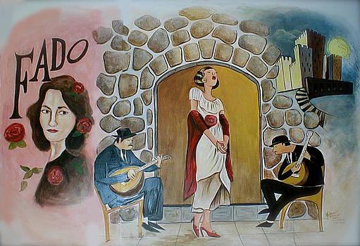 Fado Mural by Melinda Saminski