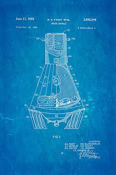 Ian Monk - Faget Space Capsule Patent Art 1963 Blueprint