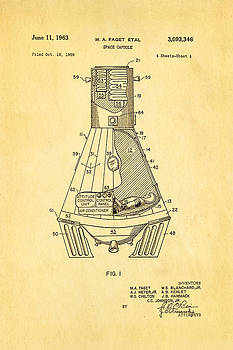 Ian Monk - Faget Space Capsule Patent Art 1963