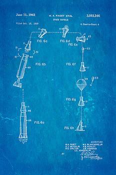 Ian Monk - Faget Space Capsule Patent Art 2 1963 Blueprint