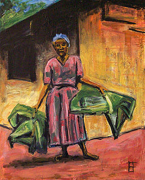 Allen Forrest - Fair Trade Coffee Woman with Fronds