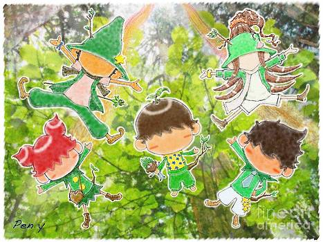 Fairies of the tree 2 by Pen Osawa