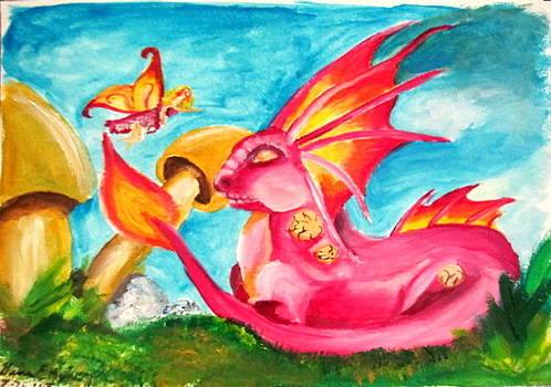 Fairy and the Dragon by Gina Hyde