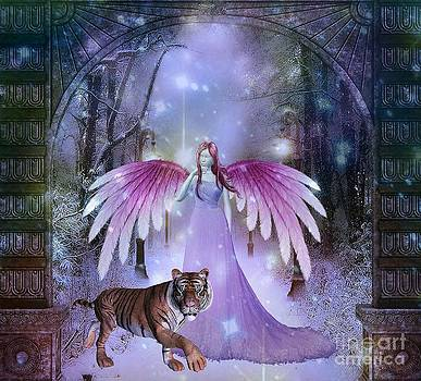Fairy and Tiger by Jessie Art