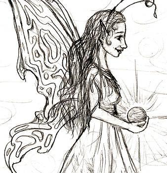 Sandy Tolman - Fairy Sketchbook Detail