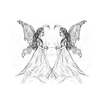 Sandy Tolman - Fairy Sketchbook Mirrored
